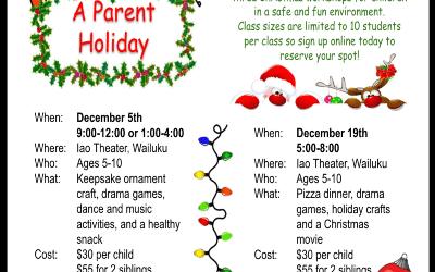 Holiday Workshops!